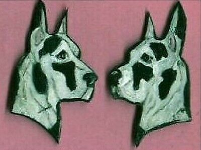 Great Dane Custom Color Hand Painted Earrings