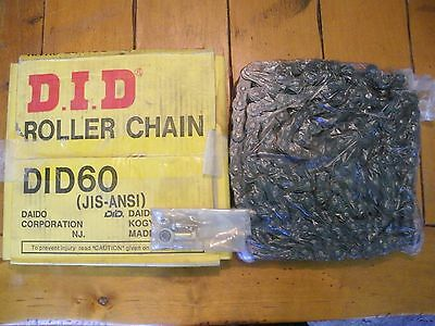 D.I.D. Roller Chain ~ DID60 ~ 160 Links - 10ft ~ New in Box ~ Daodp Copr