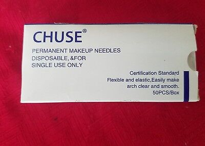 Chuse S7 50pcs Permanent Makeup Needle Manual Eyebrow Tattoo Microblade 7 Sloped
