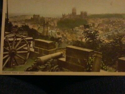 Durham from Wharton Park old postcard