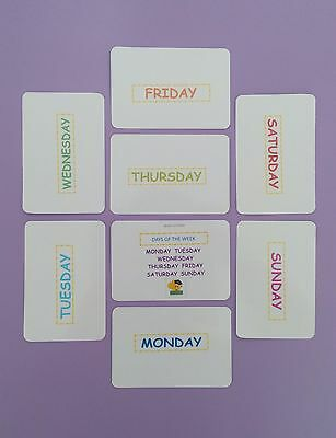 Days of the Week Flash Cards / Educational Cards / Early Learning