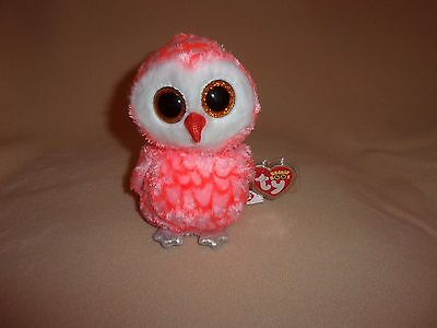 Ty Mint Cora The Owl Beanie Boo- Justice Exclusive- Hard To Find- Please Read Ad