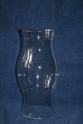 "11.5"" CLEAR GLASS Vintage Hurricane Oil Candle LAMP SHADE Hourglass shape"
