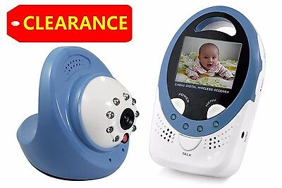 CLEARANCE 2.4G Wireless LCD Baby Monitor Night Vision Pets Camera Outlet No-Test