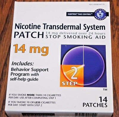 Nicotine Transdermal System Patch Step 2- 14Mg - 14 Patches New - 01-2019.