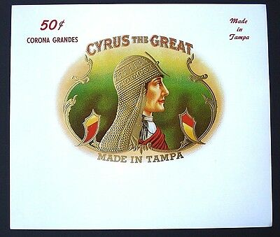 Cyrus the Great -  Tampa cigar label