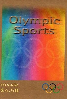 2000 AUSTRALIAN STAMP BOOKLET OLYMPIC SPORTS 10 x 45c STAMPS MUH