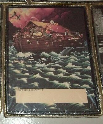 New Sealed Antioch Book Plates Set NOAH'S ARK in Vibrant Color Self Stick Labels