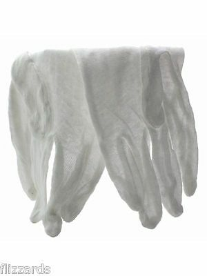 Large Cotton Glove for Handling Coins, Lightweight, 3 pair