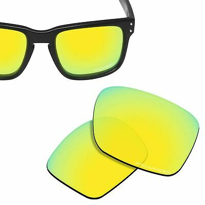 687353ce143 HPO Anti-Salt Water Replacement Lenses for-OAKLEY Holbrook -24K Gold  Polarized