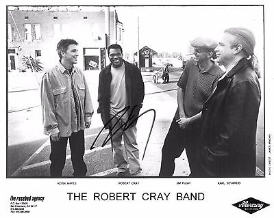 Robert Cray Autographed 8x10 Photo with Letter