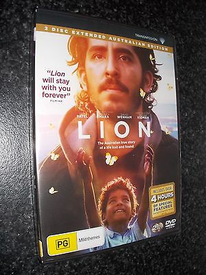 Lion (DVD, 2017, 2-Disc Set) *Brand new and sealed*