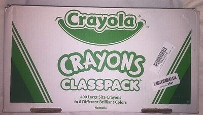 Crayola Crayons Classpack Regular 8 Colors, 400/BX (CYO528038) Open Box New