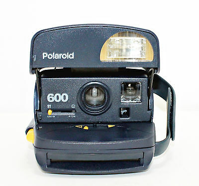 Vtg. Polaroid 600 Instant Camera Type 600 IMPOSSIBLE FILM - Blue, Tested #BBN