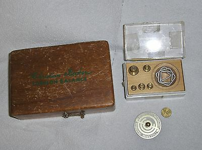 2 VINTAGE SETS of  Apothecary Ohaus / Beckers Torsion Bal. & Fractional Weights