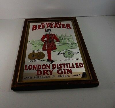 BEEFEATER London Distilled Dry Gin Wall Mirror Bar Genuine