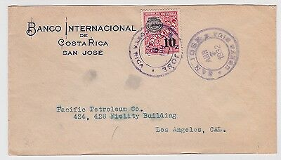 Costa Rica Official Cover To USA 1932 Lot#42