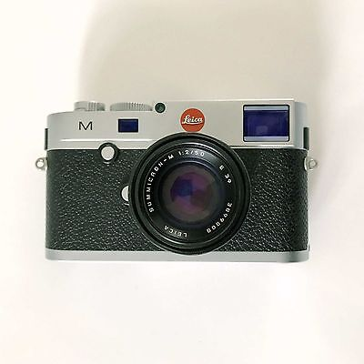 Leica M 240 Digital Rangefinder Camera - Silver Chrome + 50mm Summicron