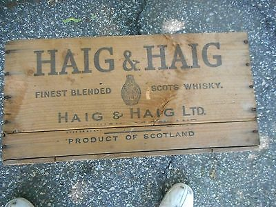 Old Vintage Haig and Haig Wooden Crate SCOTS WHISKEY Wooden Box