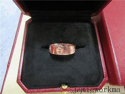 auth new cartier love ring 18k rose gold size 54-7