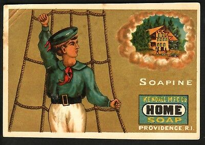 """SOAPINE, """"HOME SOAP""""  KENDALL MF'G. CO., PROVIDENCE, R.I. - 1800's"""