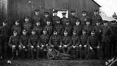 WW1 WWI BEF soldiers - fusiliers or grenadiers unit - by B. Tonge, Hornchurch