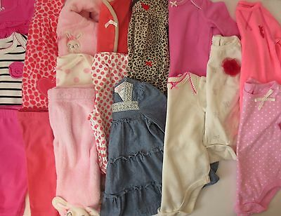 LOT Baby Girls Size 0-3 3 Months Fall Winter Clothes Outfits