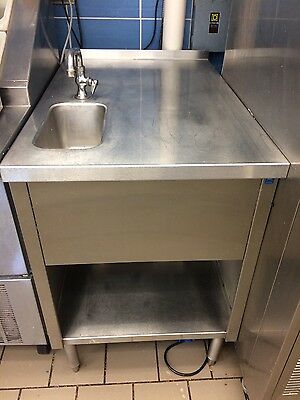 "Dairy Queen 24"" x 36"" Stainless One Bowl Dip Well Sink Milk Ice Cream Table"