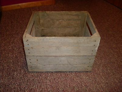 Antique Vintage Primitive Wood Box Wooden Potato Produce Crate Slat Farm