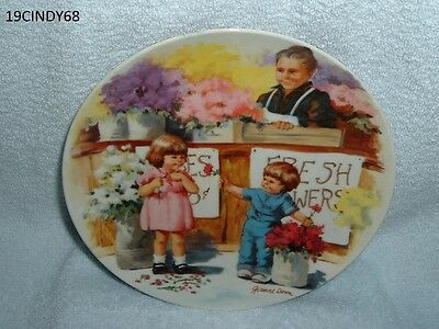 """1986 Edwin M. Knowles """"the Flower Arrangement"""" By Jeanne Down's Collector Plate"""