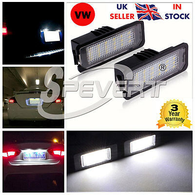 2X CREE LED Number License Plate Lights Lamp for VW GOLF MK4 MK5 Seat Polo CC