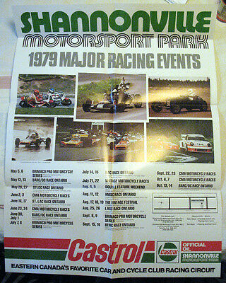 Shannonville Motorsport Park, ON - 1979 auto racing schedule poster - Castrol