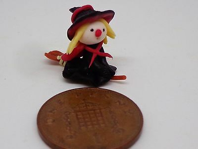 1:12 Scale Hand made Polymer Clay  Witch Dolls House Miniature Nursery-Toys