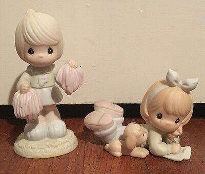 2 Precious Moments Figures Cheers To The Leader & Friends Write From The Start