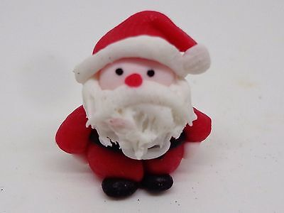 1:12 Scale Hand made Polymer Clay Santa Claus Dolls House Miniature Nursery-Toys