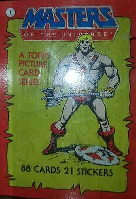 Complete Masters Universe Topps Cards and Stickers MOTU He-Man