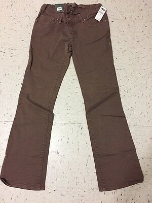 Old Navy Maternity Women's Pants Brown Real Waist Boot Cut  Size 1 NWT