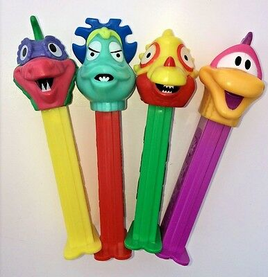 1993 Weird Monster Alien PEZ Unusual Imaginary Creature Characters LOT of 4