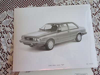 8x10 factory advertising photo with media info 1982 AUDI 4000 4E
