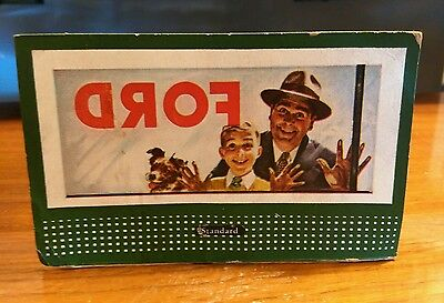 Vintage 1950 Lionel Train Cardboard Signs Billboard Ford  Plasticville