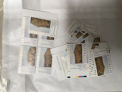 25 Australian Full Gum $20 Postage Stamp Mint - Face $500, with GST Tax Invoice