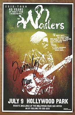 The Wailers Aston Barrett (Family Man) autographed gig poster