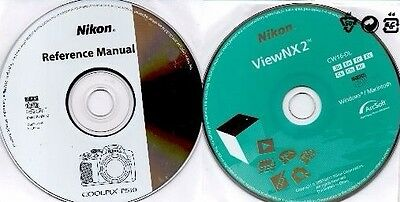 New Nikon Coolpix P510 Reference Manual CD & ViewNX2 CD Windows ViewNX 2 Disks