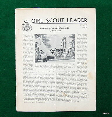 Girl Scout - 1937 Girl Scout Leader - June