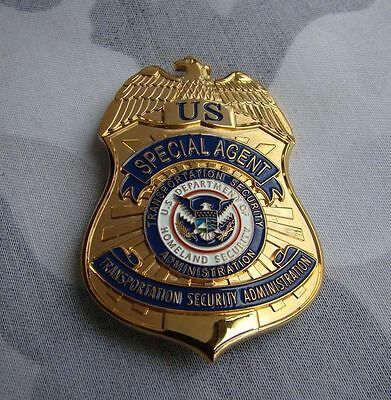 US SPECIAL AGENT TRANSPORTATION SECURITY PROPS COLLECTION BADGE Halloween Badge