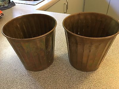 Brass Pot Containers X 2