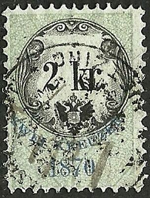 AUSTRIA 1870 VF Used The general revenue fourth issue stamp 2kr. St.#5