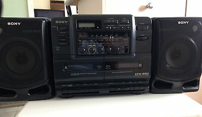 Sony High Speed Cfd-550 Cd Radio Cassette- Corder