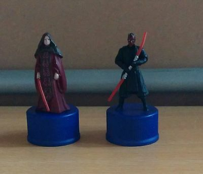 EMPEROR PALPATINE and DARTH MAUL /Two figure bottle caps /STAR WARS Bottle cap