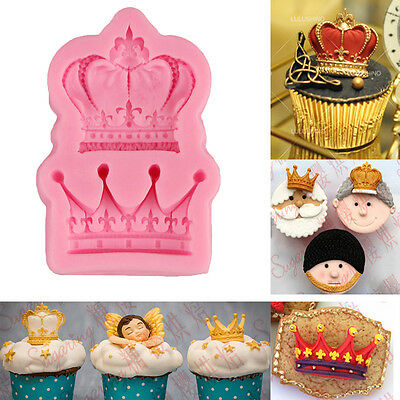 3D Crown Silicone Fondant Mold Cake Decorating Chocolate Baking Mould Tools